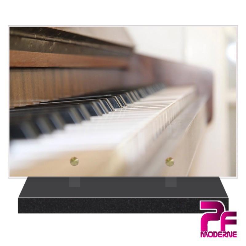 PLAQUE FUNÉRAIRE PLEXI PIANO PFM1037