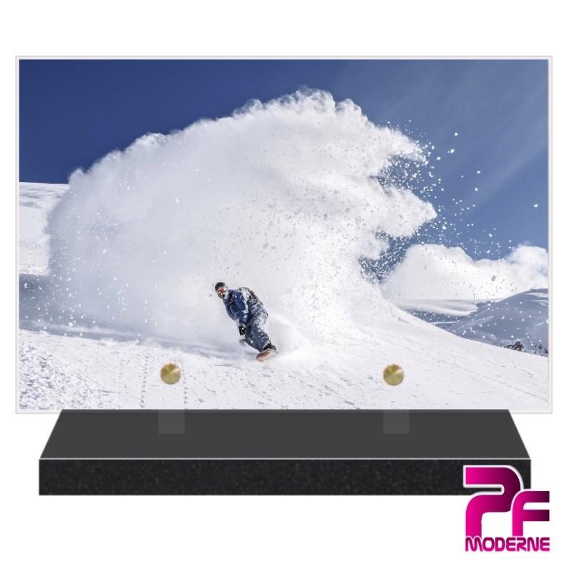 PLAQUE FUNÉRAIRE SKI SNOWBOARD PFM10376