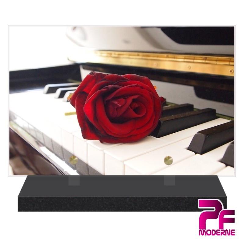 PLAQUE FUNÉRAIRE CLAVIER PIANO PFM1040