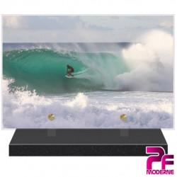 PLAQUE FUNÉRAIRE SURF VAGUES MER PFM10580
