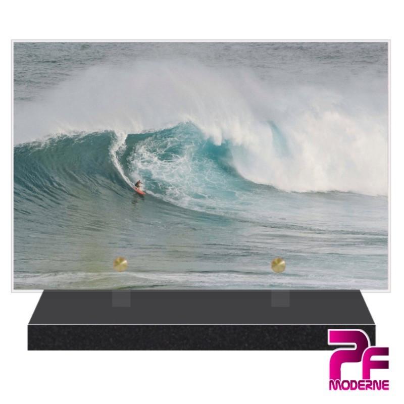 PLAQUE FUNÉRAIRE SURFEUR SURF PFM10581