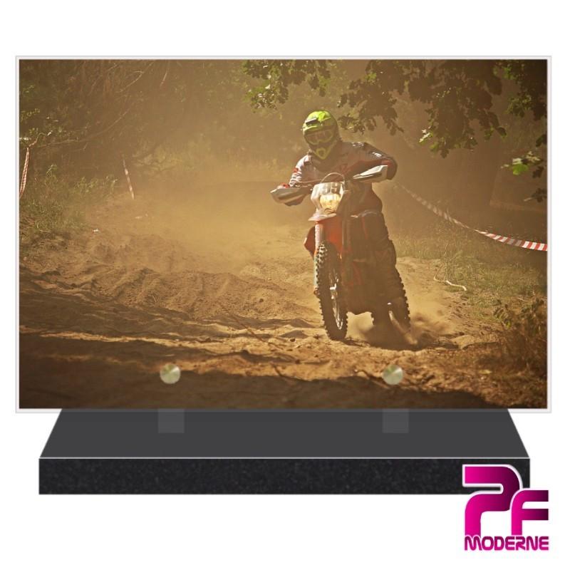 PLAQUE FUNÉRAIRE MOTO CROSS PFM6521