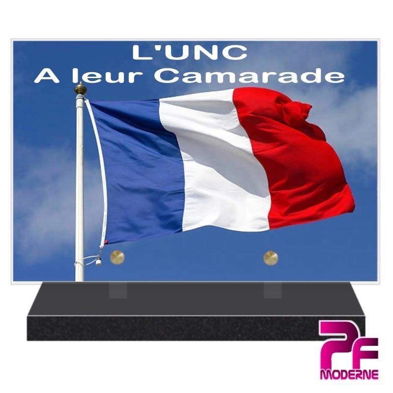 PLAQUE FUNÉRAIRE UNION NATIONALE DES COMBATTANTS PFM9405