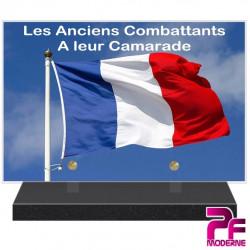 PLAQUE FUNÉRAIRE ANCIENS COMBATTANTS A LEUR CAMARADE PFM9404