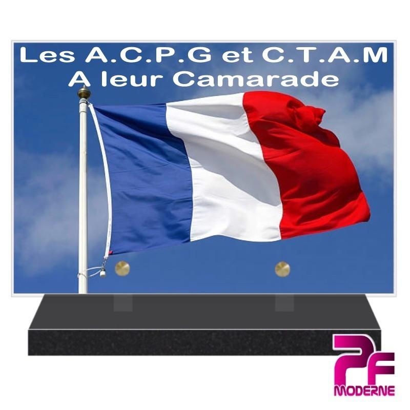 PLAQUE FUNÉRAIRE ACPG ET CTAM PFM9406