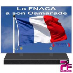 PLAQUE FUNÉRAIRE LA FNACA A SON CAMARADE PFM9407