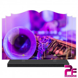 PLAQUE FUNÉRAIRE LIVRE MUSIQUE MUSICIEN SAXOPHONE PFM1024