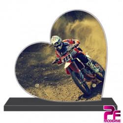 PLAQUE FUNÉRAIRE CŒUR MOTO CROSS PFM10355