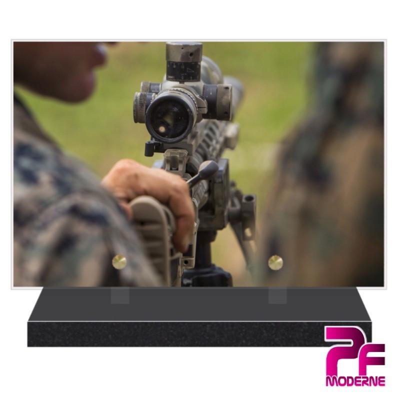 PLAQUE FUNÉRAIRE ARMÉE DE TERRE PFM9019