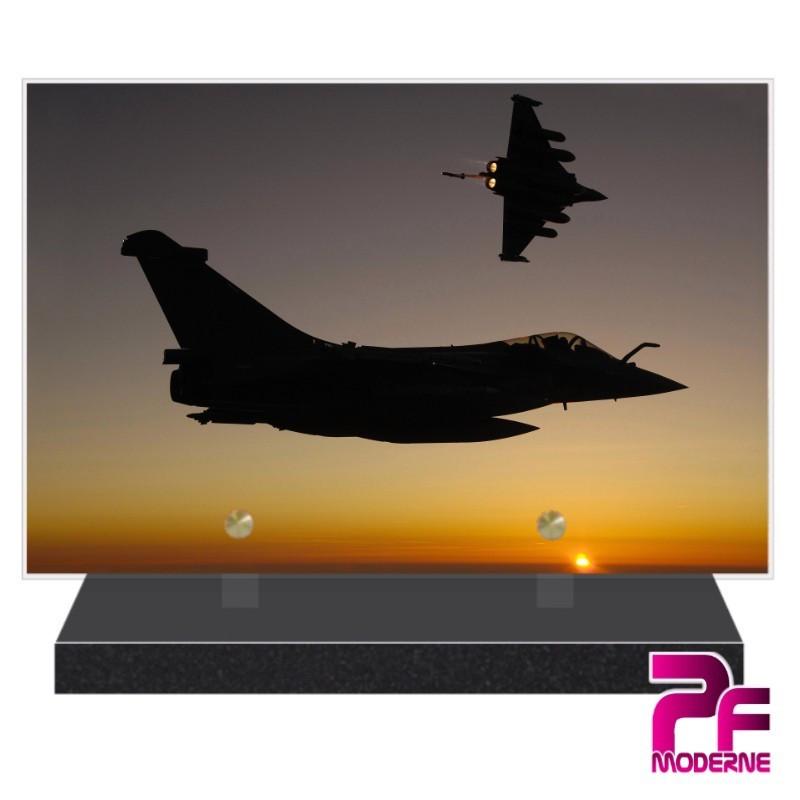 PLAQUE FUNÉRAIRE ARMÉE DE L'AIR RAFALE PFM9023