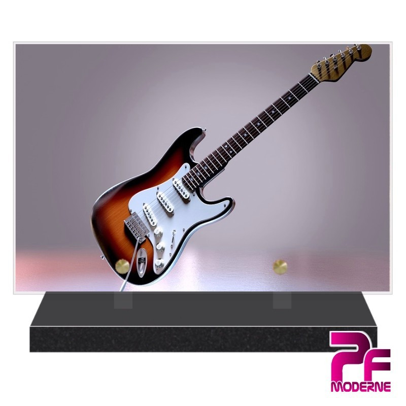 Plaque funéraire plexi Guitare électrique PFM 1000
