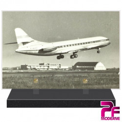 PLAQUE FUNÉRAIRE AVIATION AVION CARAVELLE PFM7020