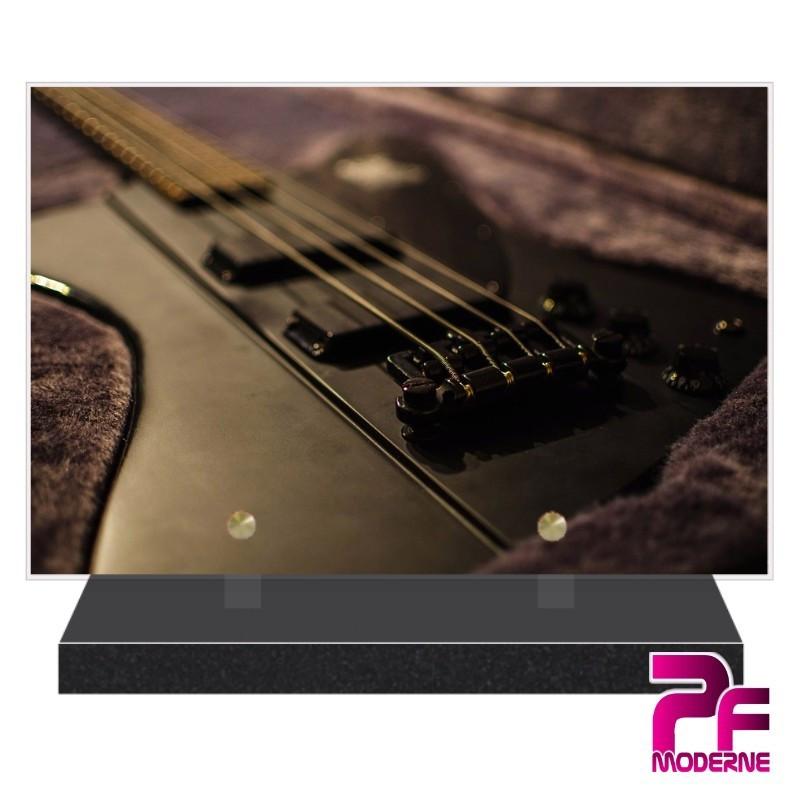 Plaque funéraire plexi Guitare Bass R PFM1004