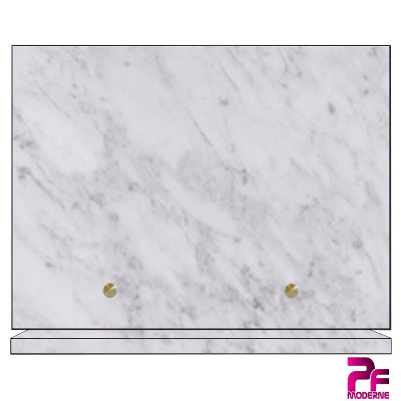 PLAQUE FUNÉRAIRE ARMÉE A PERSONNALISER marbre blanc