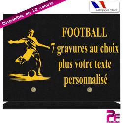 PLAQUE FUNÉRAIRE FOOTBALL SUR SOCLE PERSONNALISABLE