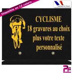 PLAQUE FUNÉRAIRE CYCLISME A PERSONNALISER