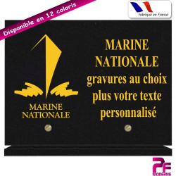 PLAQUE FUNÉRAIRE MARINE NATIONALE A PERSONNALISER