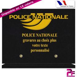 PLAQUE FUNÉRAIRE POLICE NATIONALE A PERSONNALISER