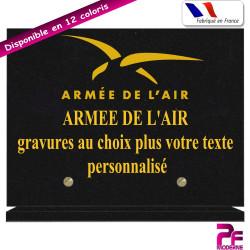 PLAQUE FUNÉRAIRE ARMÉE DE L'AIR A PERSONNALISER