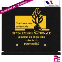 PLAQUE FUNÉRAIRE GENDARMERIE NATIONALE A PERSONNALISER