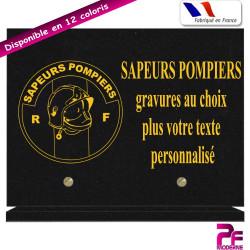PLAQUE FUNÉRAIRE SAPEURS POMPIERS A PERSONNALISER