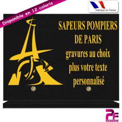 PLAQUE FUNÉRAIRE POMPIERS DE PARIS A PERSONNALISER