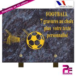 PLAQUE FUNÉRAIRE FOOTBALL A PERSONNALISER SUR PIEDS