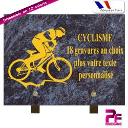 PLAQUE FUNÉRAIRE CYCLISME A PERSONNALISER SUR PIEDS