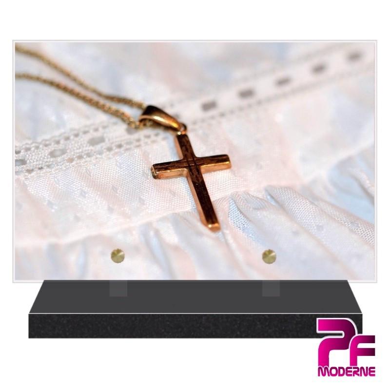 PLAQUE FUNÉRAIRE RELIGION CHRÉTIENNE CROIX PFM6205
