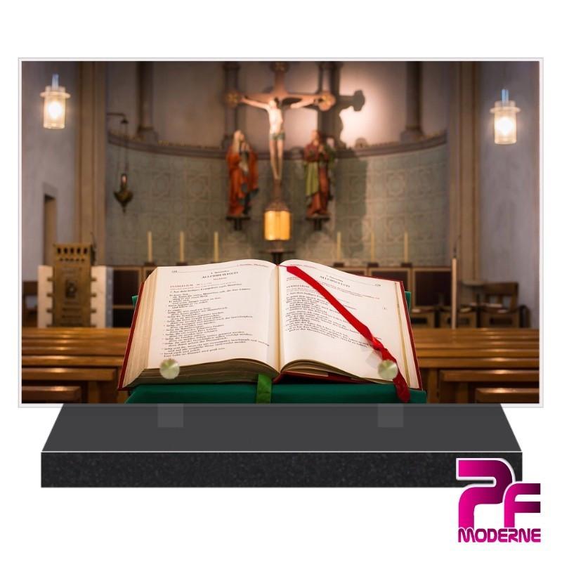PLAQUE FUNÉRAIRE RELIGION CHRÉTIENNE BIBLE EGLISE PFM6209