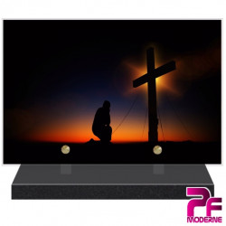 PLAQUE FUNÉRAIRE RELIGION CHRÉTIENNE CROIX PRIÈRE PFM6217