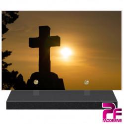 PLAQUE FUNÉRAIRE RELIGION CHRÉTIENNE CROIX PFM6223