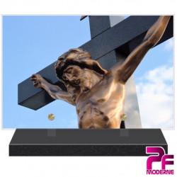 PLAQUE FUNÉRAIRE RELIGION CHRÉTIENNE JÉSUS CHRIST CROIX PFM6226