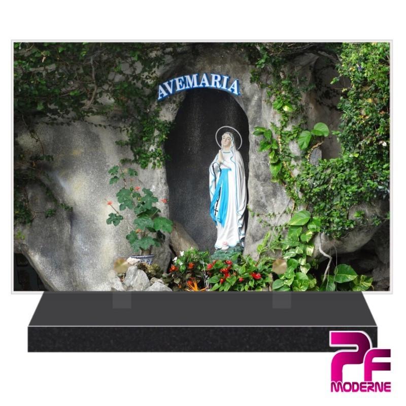 PLAQUE FUNÉRAIRE RELIGION CHRÉTIENNE VIERGE MARIE PFM6228