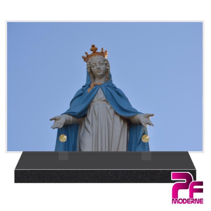 PLAQUE FUNÉRAIRE VIERGE MARIE RELIGION CATHOLIQUE PFM6229