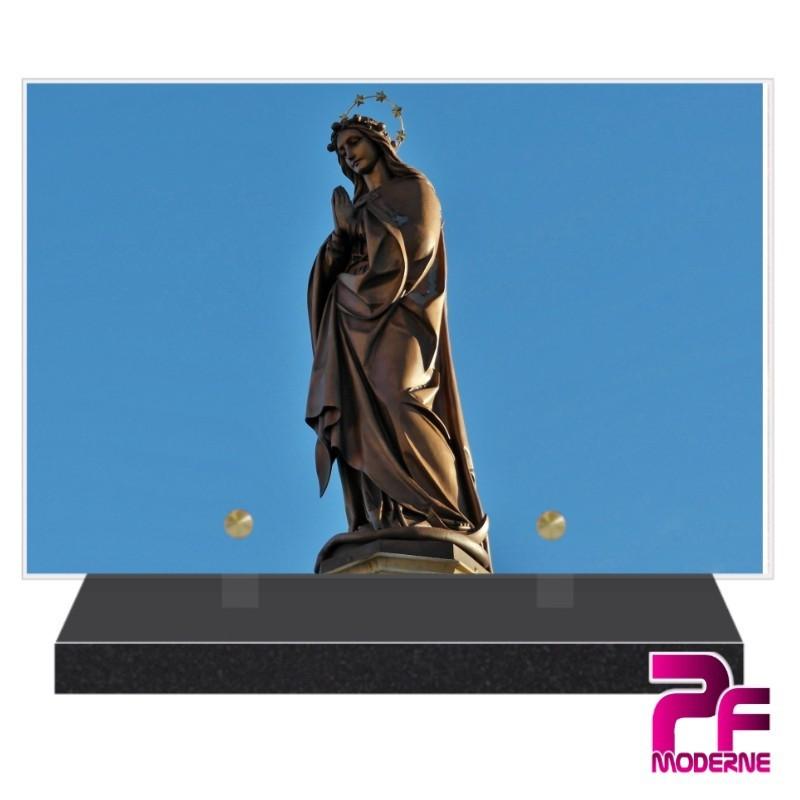 PLAQUE FUNÉRAIRE RELIGION CHRÉTIENNE VIERGE MARIE PFM6230
