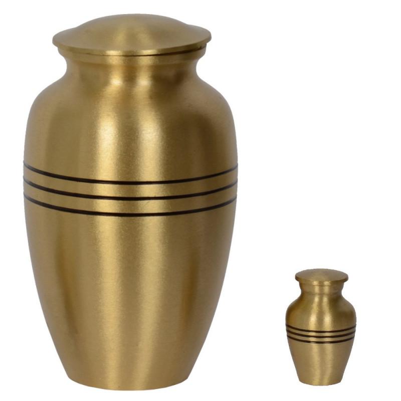 URNE FUNÉRAIRE EN LAITON UL07 GOLD MAORON ET RELIQUAIRE