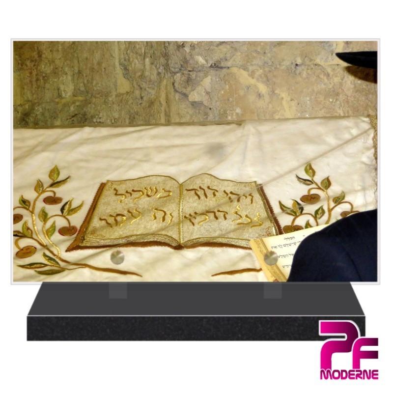 PLAQUE FUNÉRAIRE RELIGION JUIVE PFM6304