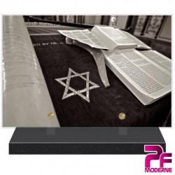 PLAQUE FUNÉRAIRE RELIGION JUIVE TORAH PFM6306