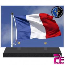 PLAQUE FUNÉRAIRE SECTION DE RECHERCHE GENDARMERIE NATIONALE PFM9103