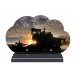 PLAQUE FUNÉRAIRE AGRICULTURE MOISSON NPFM2118