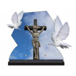 PLAQUE FUNÉRAIRE COLOMBES CHRIST CPFM6203
