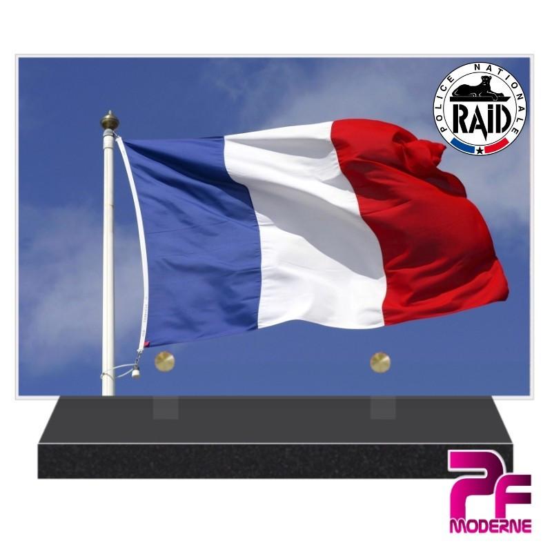 PLAQUE FUNÉRAIRE RAID POLICE NATIONALE PFM9202