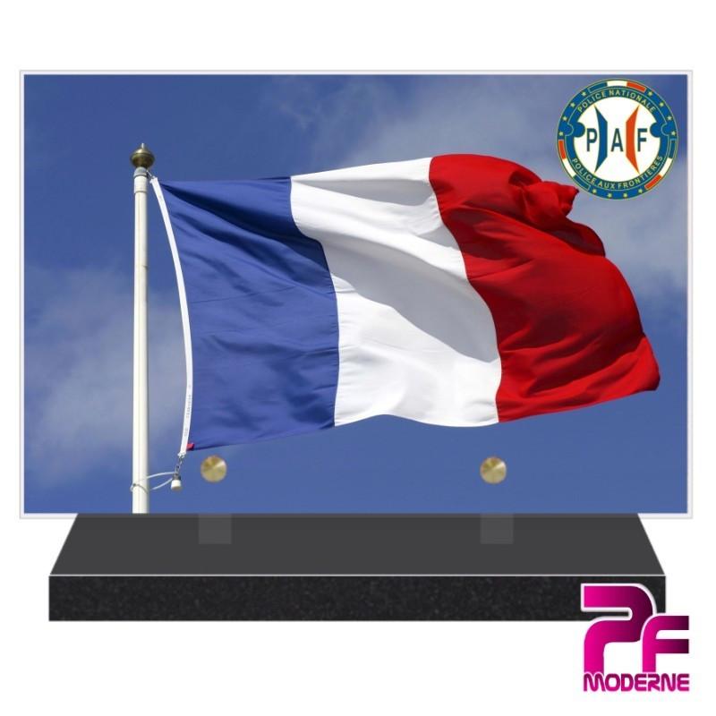 PLAQUE FUNÉRAIRE POLICE NATIONALE PAF PFM9204