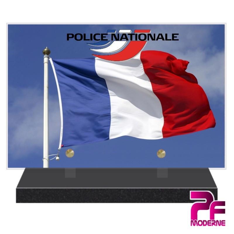 PLAQUE FUNÉRAIRE POLICE NATIONALE PFM9205