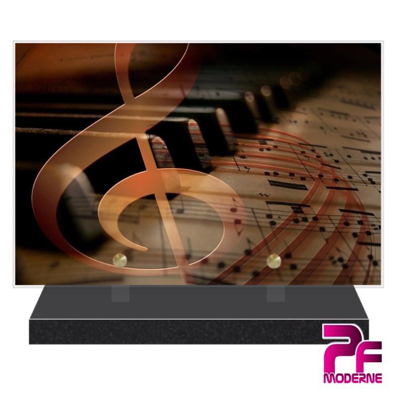 PLAQUE FUNÉRAIRE PLEXI PIANO PFM1035