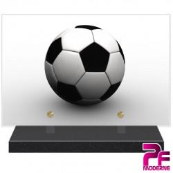 PLAQUE FUNÉRAIRE FOOTBALL BALLON PFM10157