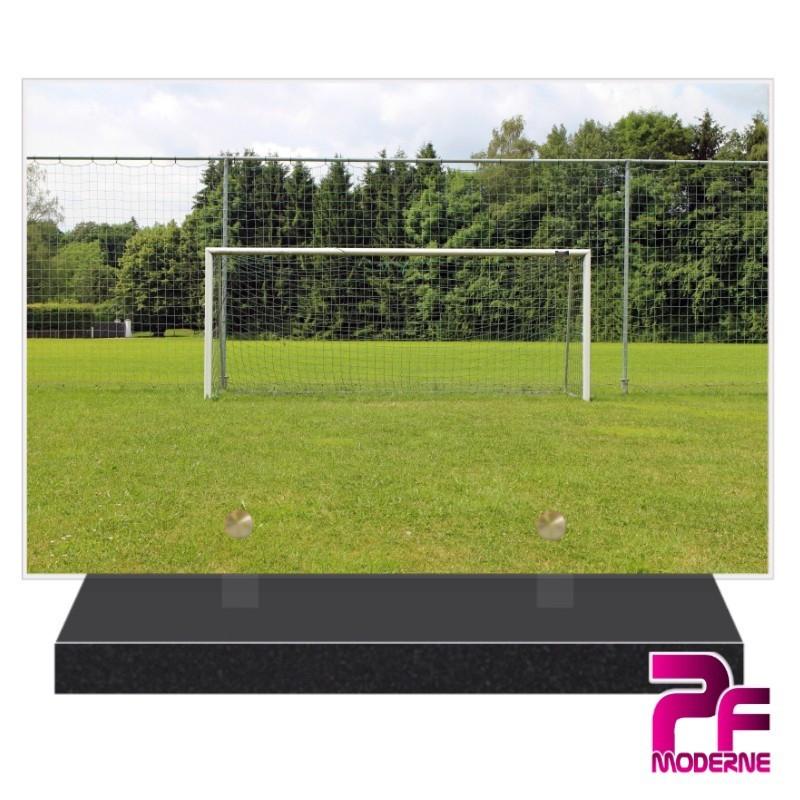PLAQUE FUNÉRAIRE FOOTBALL GARDIEN CAGE PFM10158