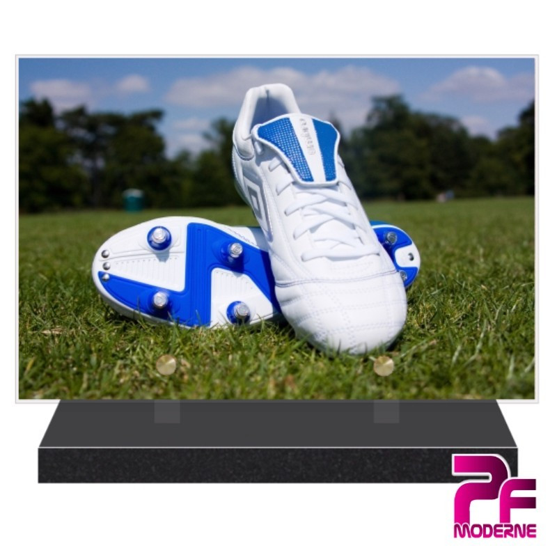 PLAQUE FUNÉRAIRE FOOTBALL CHAUSSURE A CRAMPONS PFM10159