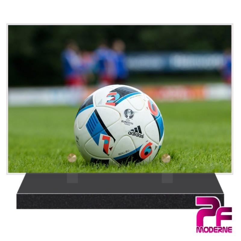 PLAQUE FUNÉRAIRE BALLON DE FOOTBALL PFM10162